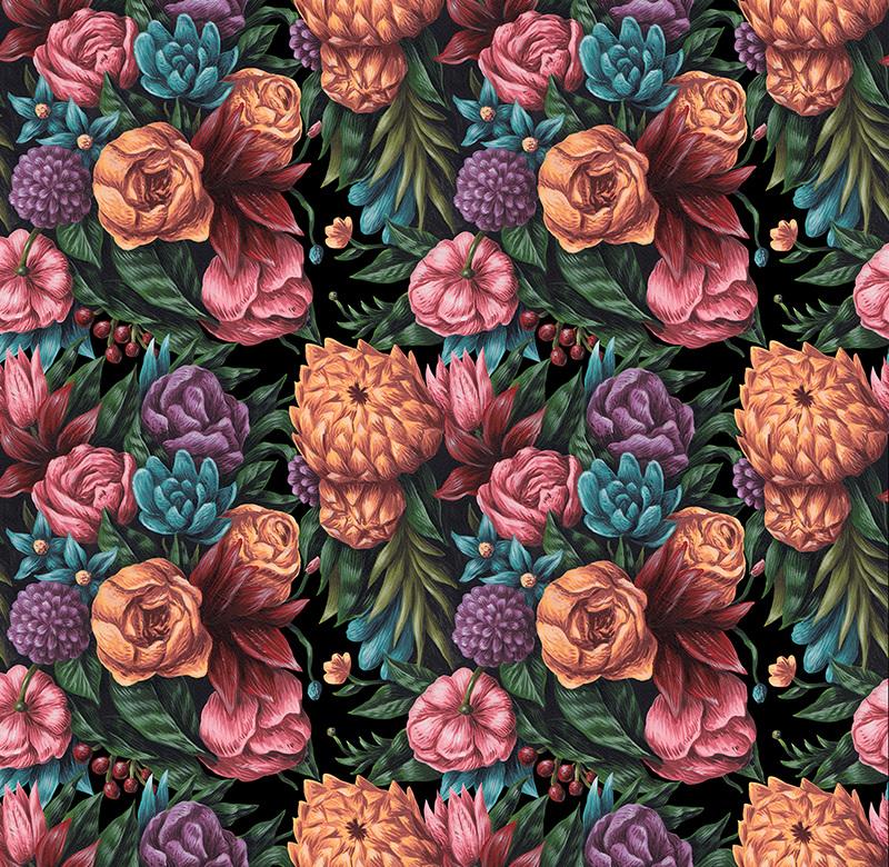 Pip Studio the Official website - Botanical Print wallpaper light ...